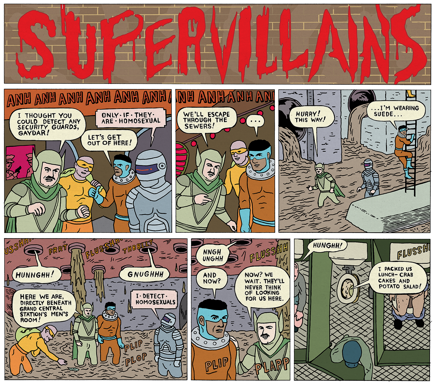 Supervillians by Michael Kupperman