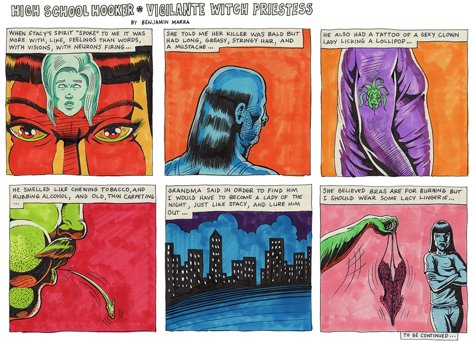 High School Hooker * Vigilante Witch Priestess by benjamin-marra