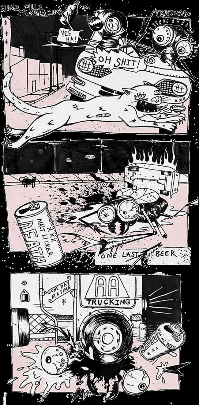 Nine Mile Esophagus by Zabo