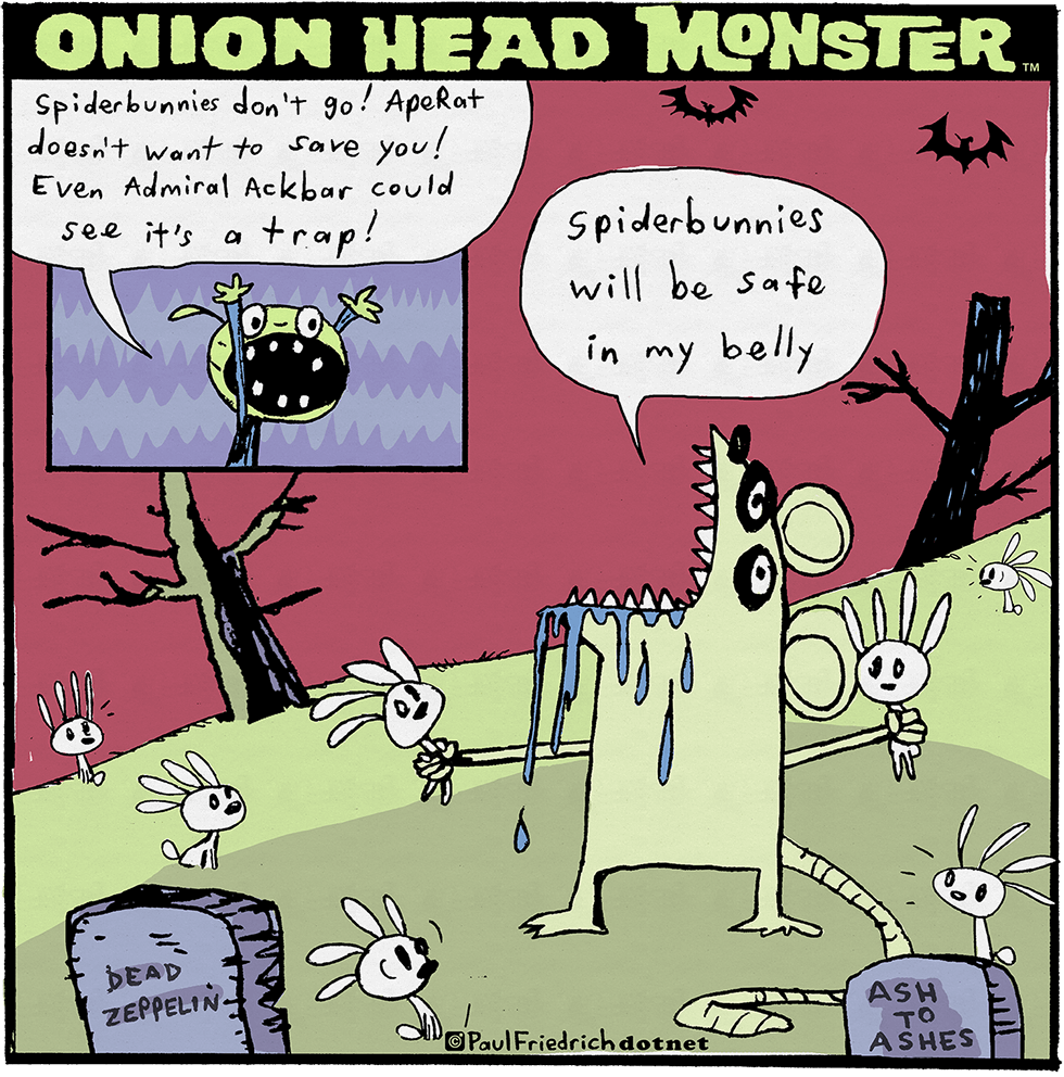 Onion Head Monster by Paul Friedrich