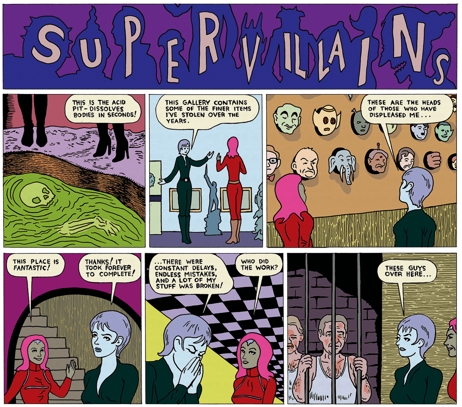 Supervillians by Michael Kupperman
