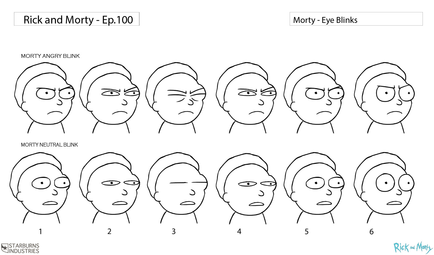 Morty\'s blink frames : rickandmorty