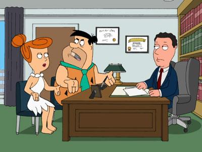 The Flintstone's Divorce Attorney - Family Guy