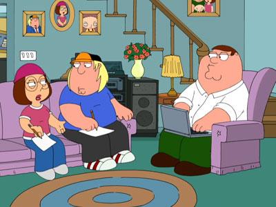 Writing Handi-Quacks - Family Guy