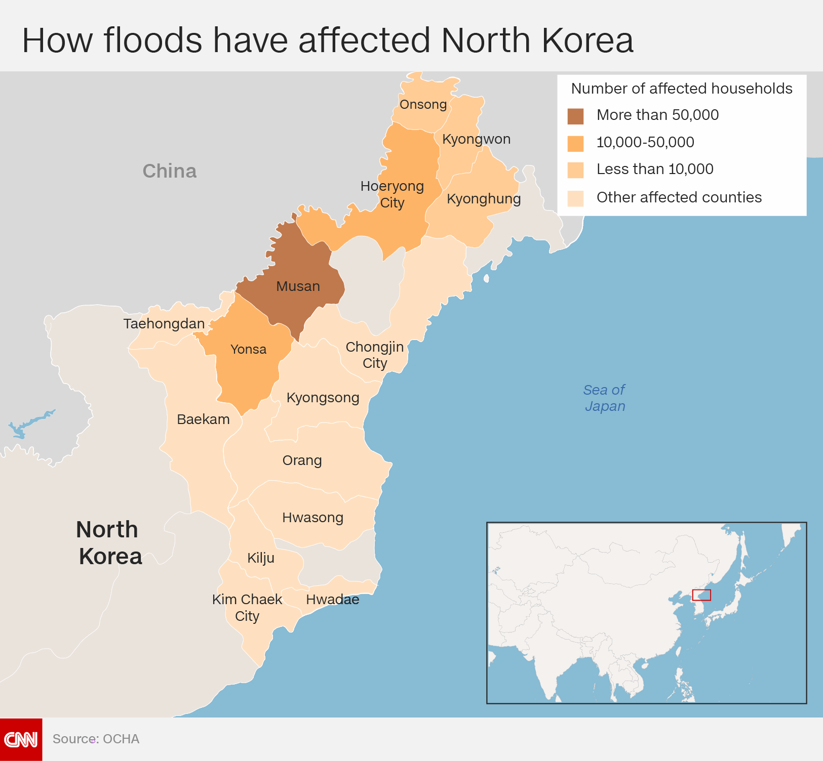 North Korea makes rare public appeal for flood relief
