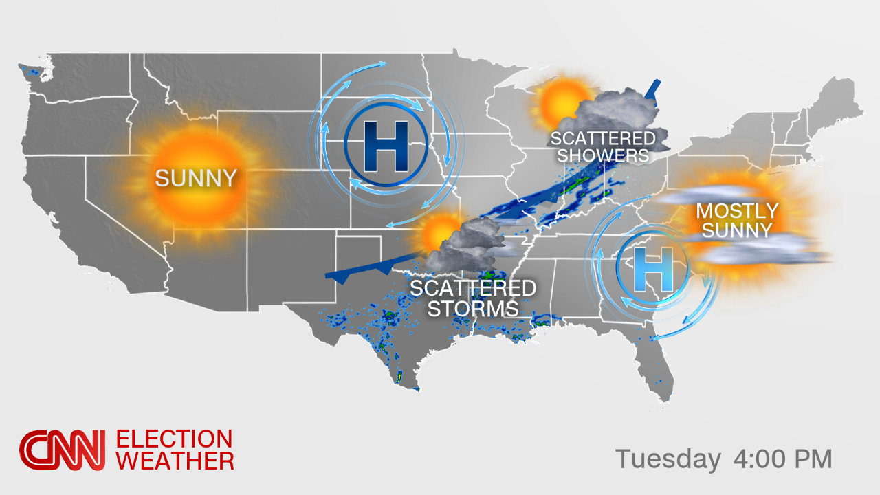 Florida Weather Forecast Map.Election Day Forecast Rain Possible For A Few Key States Cnnpolitics
