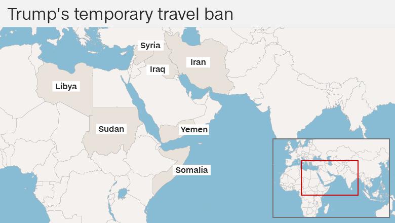 Map of countries via CNN