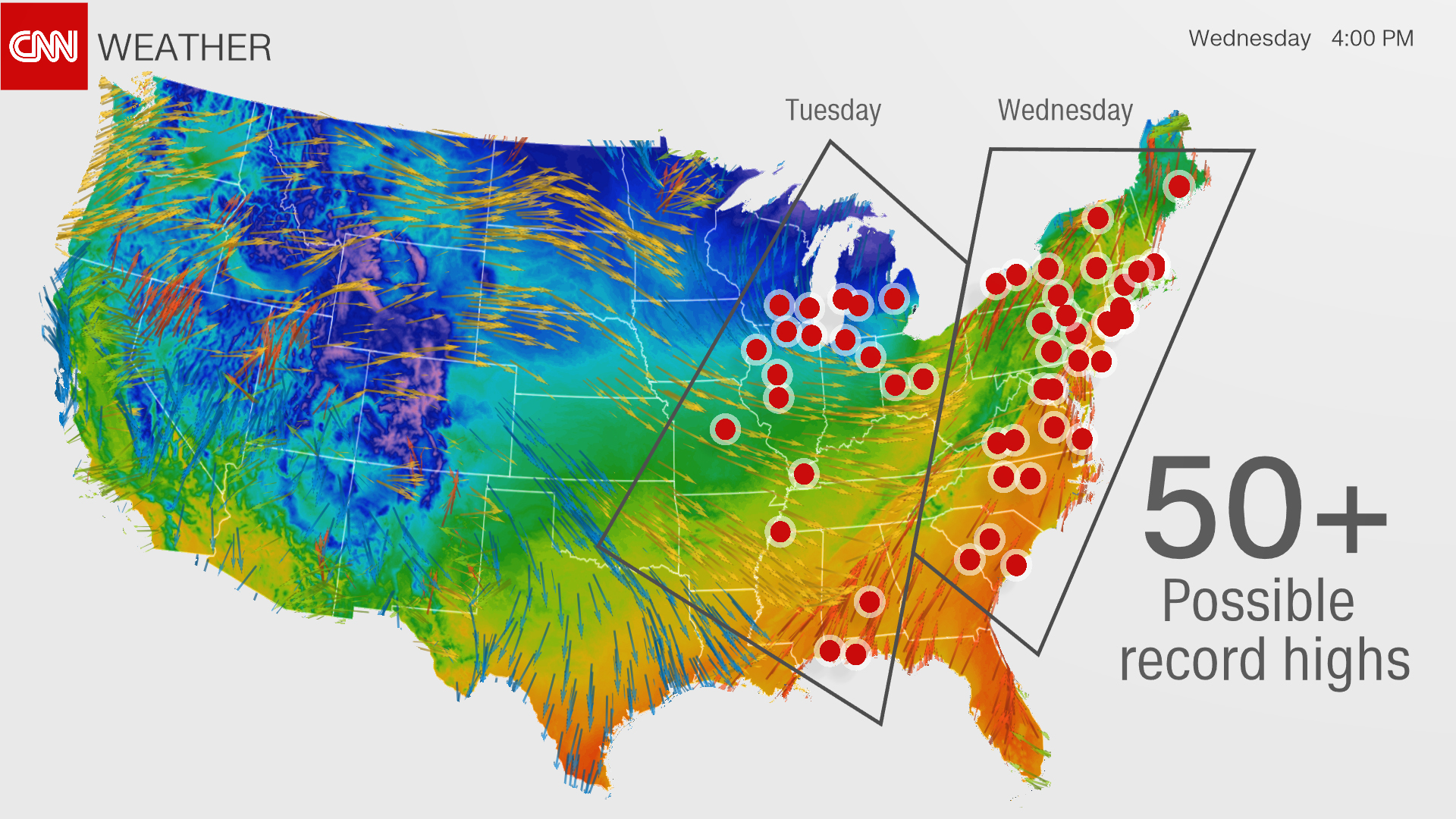Where Is The Snow CNN - Snowfall us map