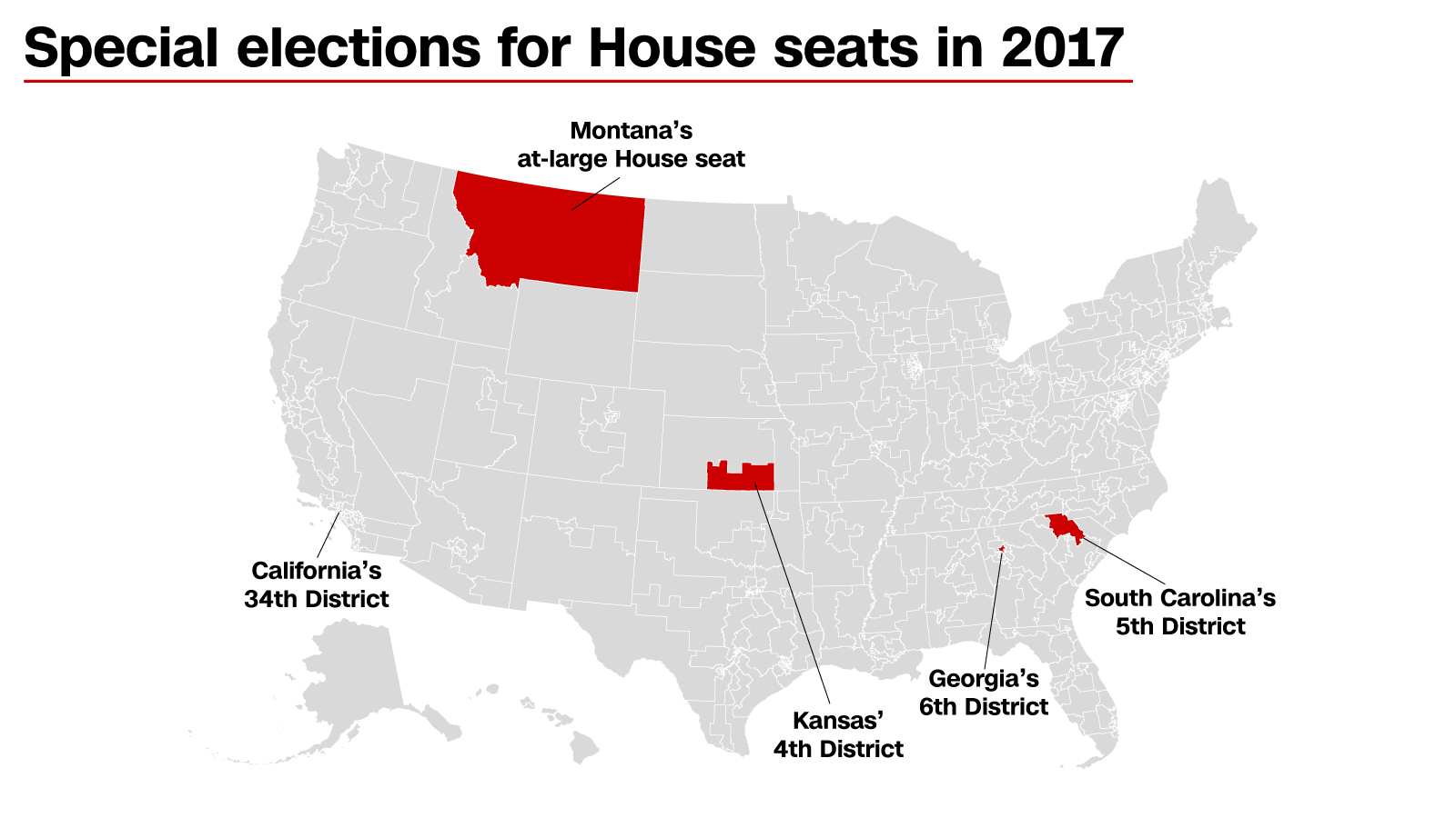 Democrats' chances of flipping GOP House seats in 5 special elections, ranked