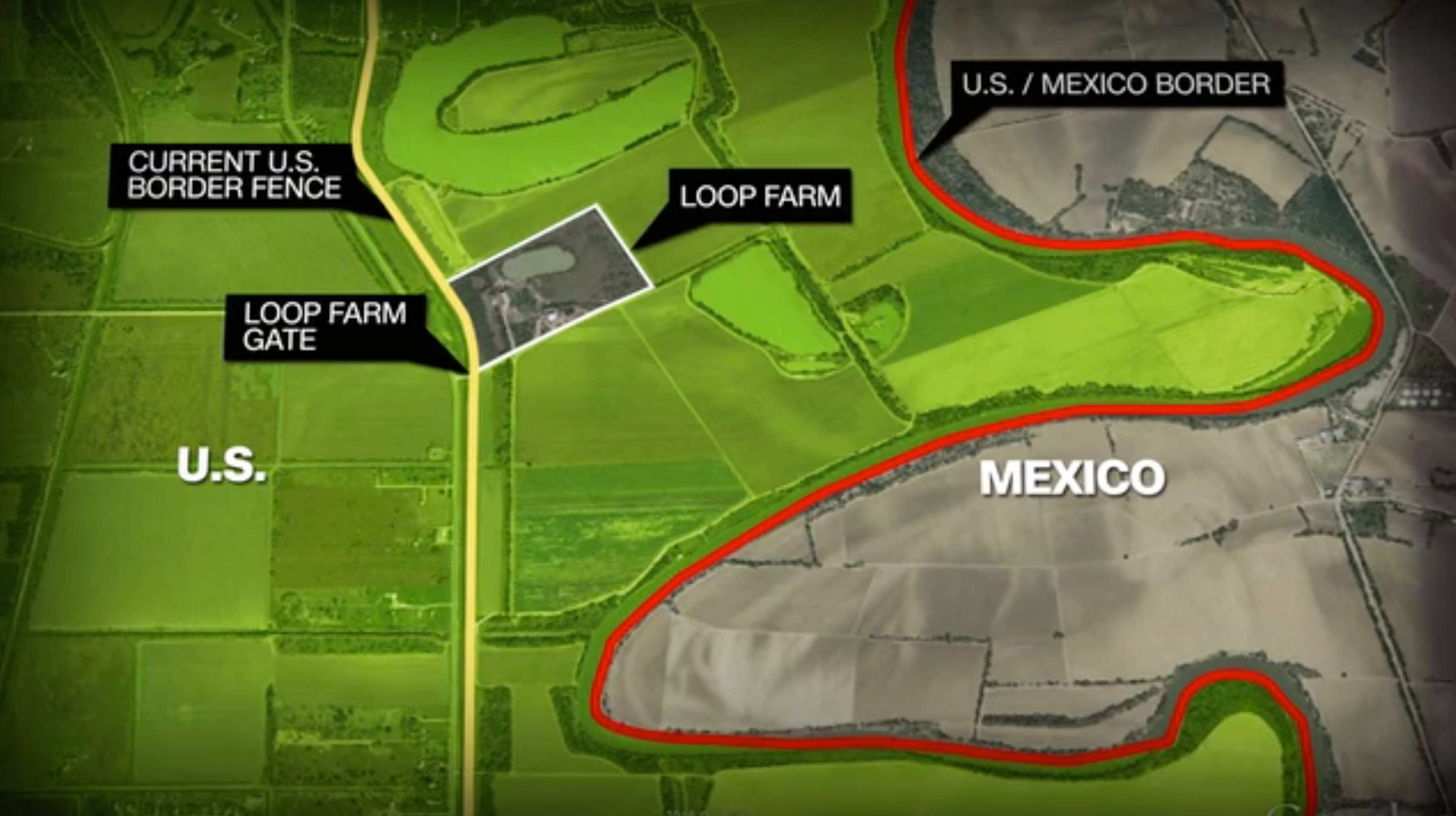 US Family Left On South Side Of Border CNNcom - Map of us border fence