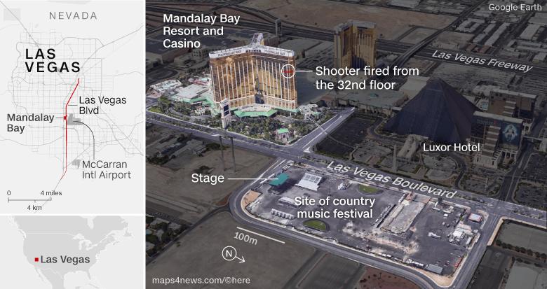 Las Vegas killer fired at airport fuel tank