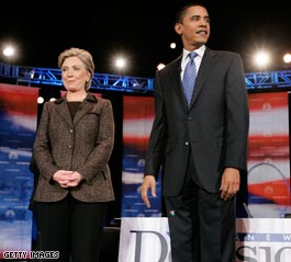 Clinton, Obama spar over campaign tactics