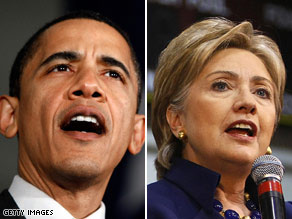 Exit polls are showing that Obama appeals to younger voters while older voters prefer Clinton.