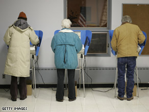 Voters cast their ballots in Bowling Green, Ohio.