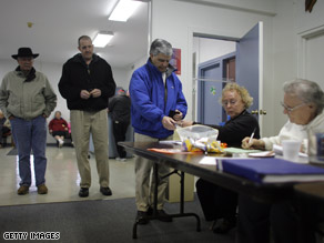 Residents sign in to vote in Chillicothe, Ohio.