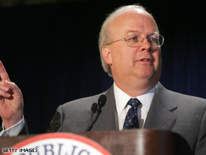 Rove spoke at the University of Iowa Sunday.