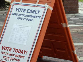Miami, Florida early voting site.