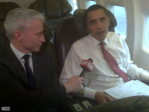  CNN&#039;s Anderson Cooper interviewed Obama Wednesday.