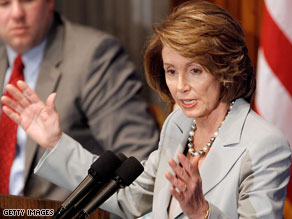 Speaker of the House, Nancy Pelosi.