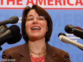 Klobuchar is backing Obama.