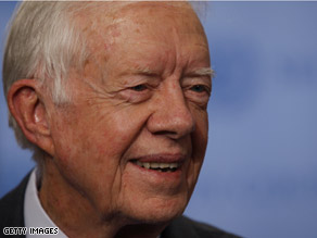  Carter hinted Wednesday he&#039;d likely support Obama.