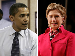 Obama and Clinton are statistically tied in Indiana.