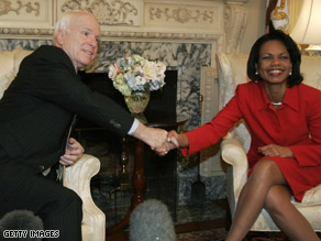  A McCain-Rice ticket could carry New York, a new poll says.