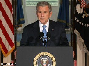 President Bush's job approval rating hits all time low Friday