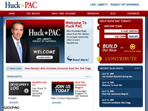 Huckabees new PAC is supporting conservative candidates.