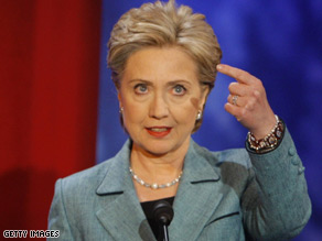 Hillary Clinton speaks during Wednesday&#039;s ABC debate.