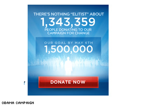 The Obama campaign is looking to score donations over Wednesday's tough debate.