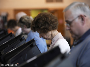Voters in Butler, Pennsylvania cast their ballots Tuesday.