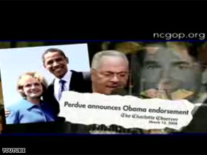 The North Carolina GOP released an ad attacking Democratic Presidential hopeful Barack Obama.