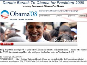 The Obama campaign has asked for an investigation into two unofficial Web sites.