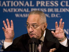 Rev. Jeremiah Wright addressed the National Press Club in Washington, DC.