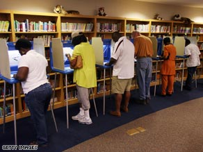 Voters cast their ballots in Wilmington, North Carolina.