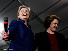 Sen. Feinstein joined Sen. Hillary Clinton on the campaign trail ahead of Super Tuesday.