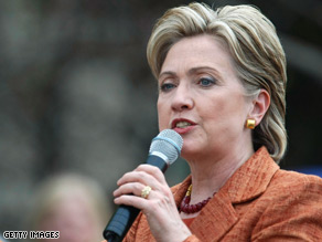  Hillary Clinton took aim at President Bush Thursday over his overseas comments.