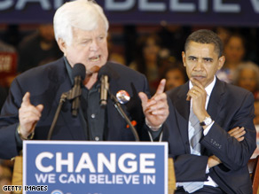 Ted Kennedy endorsed Barack Obama last January.