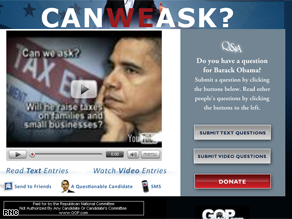 The RNC launched a new Web site Friday.