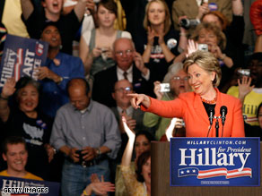 Clinton after her win in West Virginia.