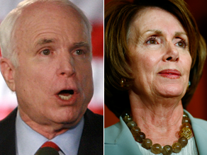 McCain and Pelos reacted to the president&#039;s speech.