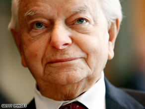 Sen. Robert Byrd was released from the hospital Tuesday after a six week stay.