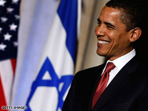 Sen. Barack Obama at an event to honor the 60th anniversary of Israel's independence in Washington, D.C.