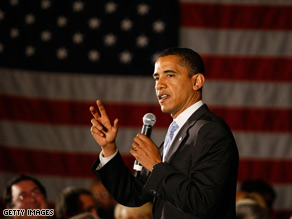 Sen. Obama campaigned in Florida Thursday.