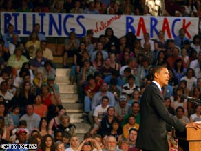 Sen. Obama campaigned in Billings, Montana last week.