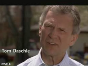 Barack Obama's campaign released a new ad staring Tom Daschle.