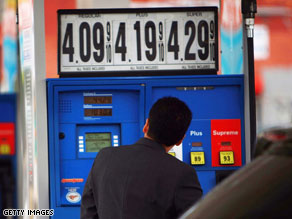 Gas prices soar over $4.00 a gallon in NY.