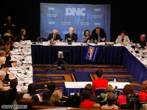 The DNC&#039;s Rules and Bylaws Committee meets in Washington, Saturday.