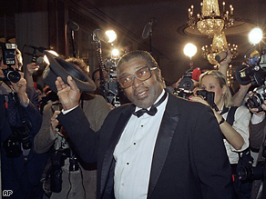 Bo Diddley at the second annual Rock and Roll Hall of Fame dinner in 1987.